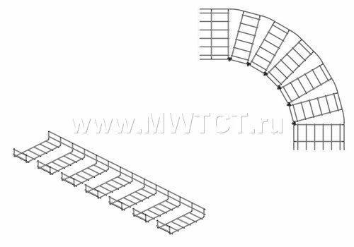 Варианты изготовления плоского угла проволочного лотка