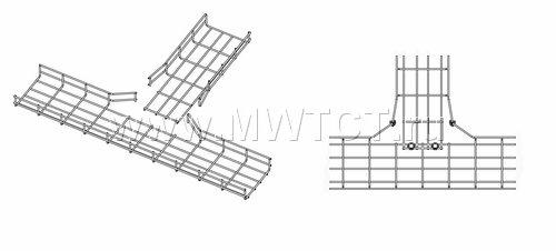 Варианты изготовления Т-отвода проволочного лотка